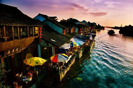 See Zhujiajiao Water Village and Shanghai City in One Day