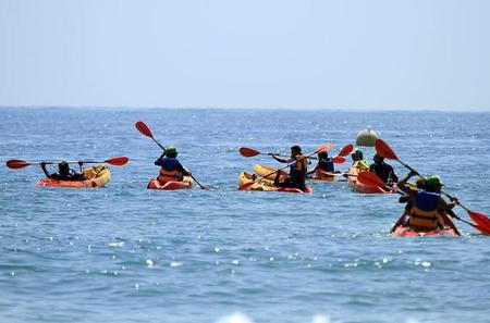 Sit on Top Kayak Tour in Taghazout from Agadir