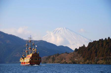Mt Fuji Day Trip: Pirate Ship of Lake Ashi, Sledding Experience and Gotemba Premium Outlets including Buffet Lunch