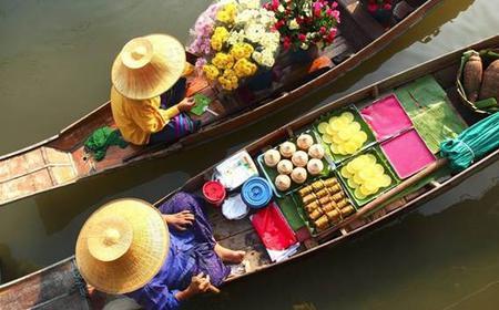 Bangkok Temples & Damnoen Saduak Floating Market Tour