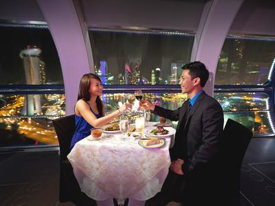 Singapore Flyer Sky Dining Flight - Express Boarding Ticket