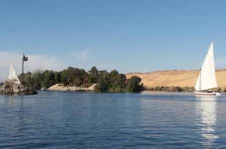 Felucca Ride on the Nile in Aswan at Sunset