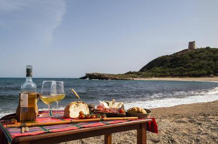 Scenic Route Along an Ancient Roman Road with Aperitif at Sunset on the Sea