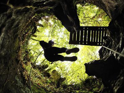 Waitomo Black Abyss Adventure - Ruakuri Cave Tubing and Abseiling