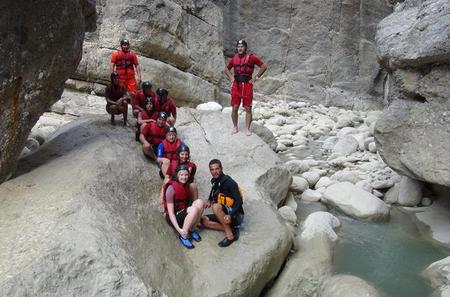 Rafting and Canyoning with rope slide
