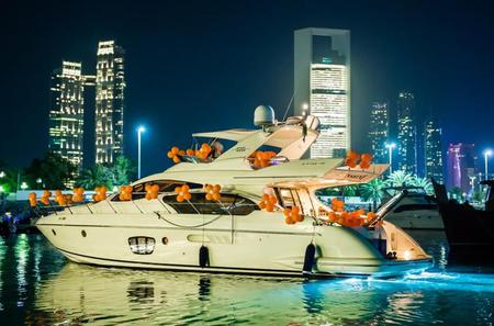 Private Abu Dhabi Yacht Dinner Cruise with 3 Course Dinner