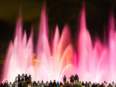 Barcelona Night Tour with Montjuic Magic Fountain Light Show