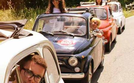 From Lucca: 500 Vintage Tour and Chianti Roads