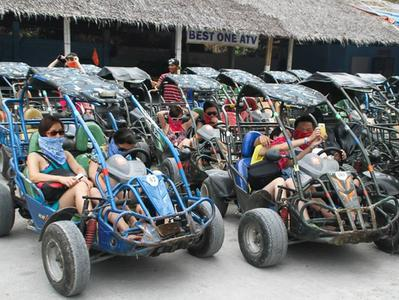 Boracay Island Tour to Mt. Luho by Buggy or ATV with Puka Beach
