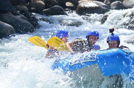 Full Day Class II-III Rafting and Canyoning Rappelling from La Fortuna-Arenal