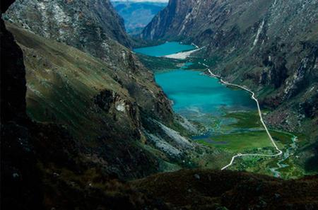 Mountain Biking to Llanganuco Lake from Huaraz