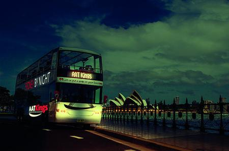 Sydney By Night Tour on Double-Decker Coach with Transparent Roof