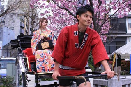 Rickshaw Ride through Asakusa in a Kimono