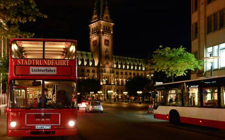 Hamburg at Night - Festival of Light Bus and Boat Tour