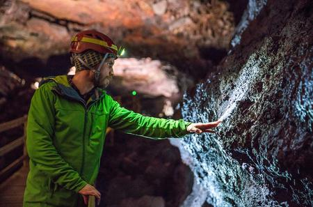 Overnight Lava Cave and Ice Cave Experience from Reykjavik