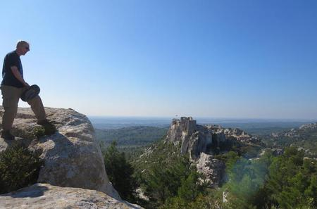 Private Guided Walking Tour in the Alpilles Mountains Including Les Baux de Provence from Avignon