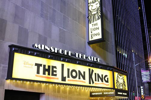 The Lion King at the Minskoff Theatre