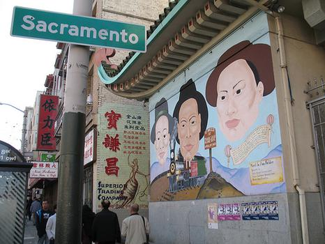 Chinese Railroad Workers Mural
