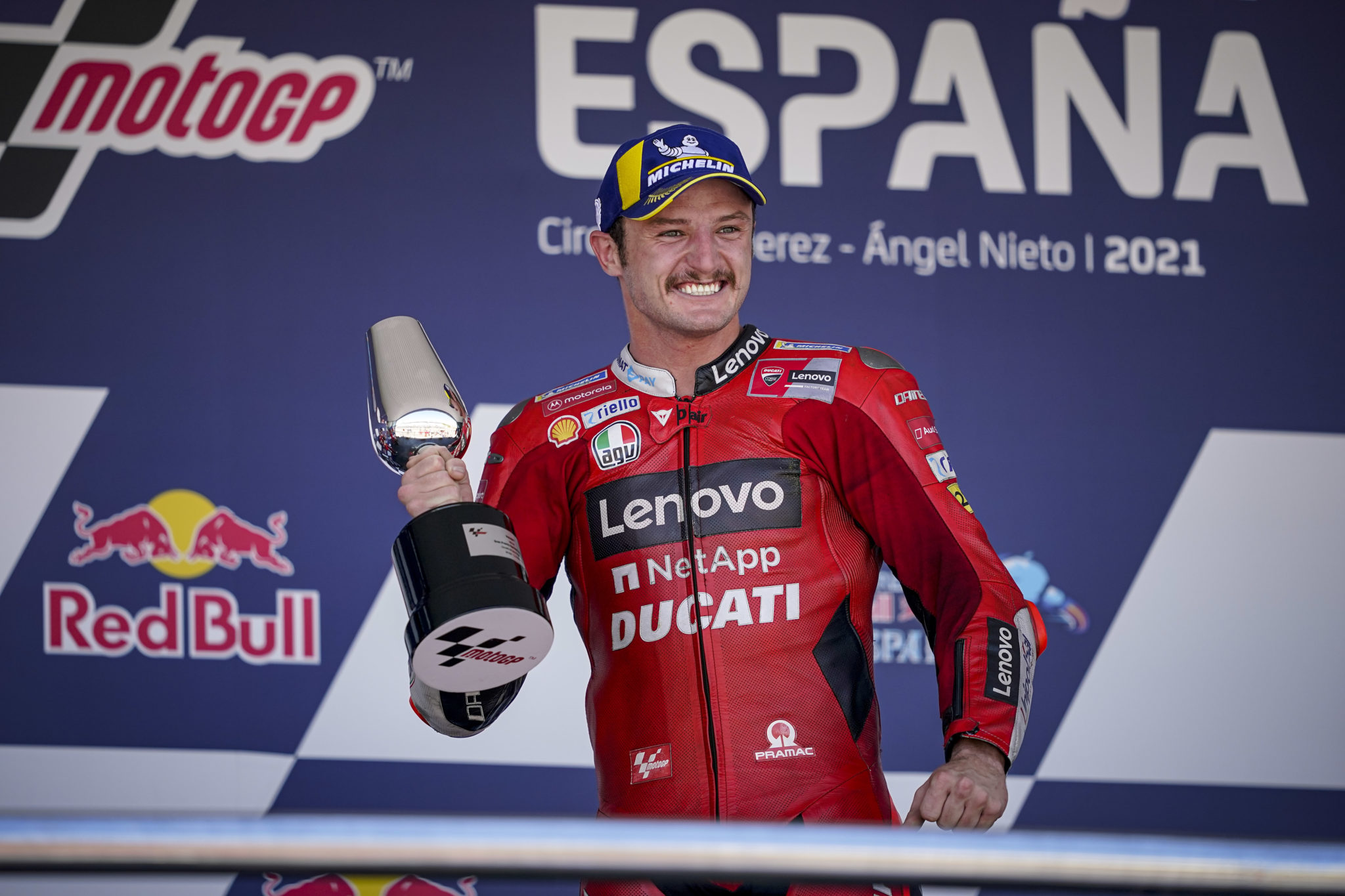 Ducati's Daredevil Jack Miller records his first ever victory with the team.