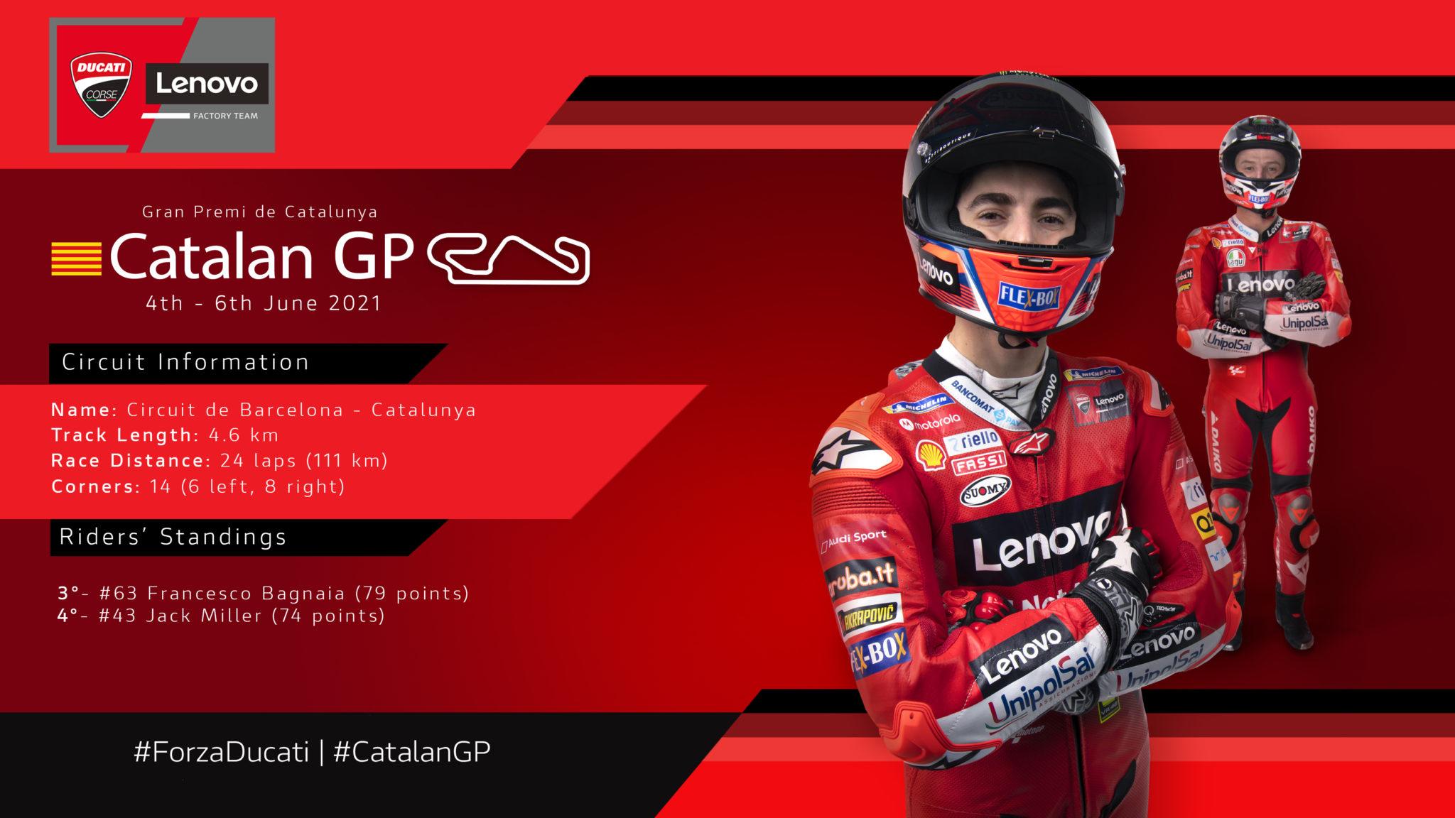 Ducati Lenovo Team all set for the Catalan GP.