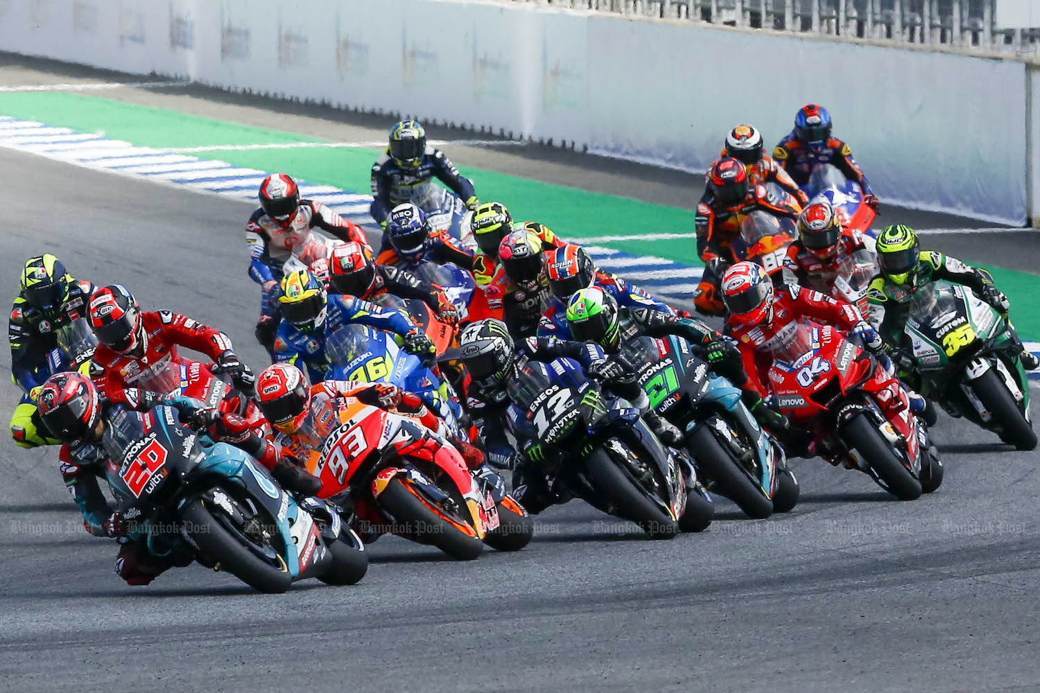 The Thai GP will not be taking place this season.