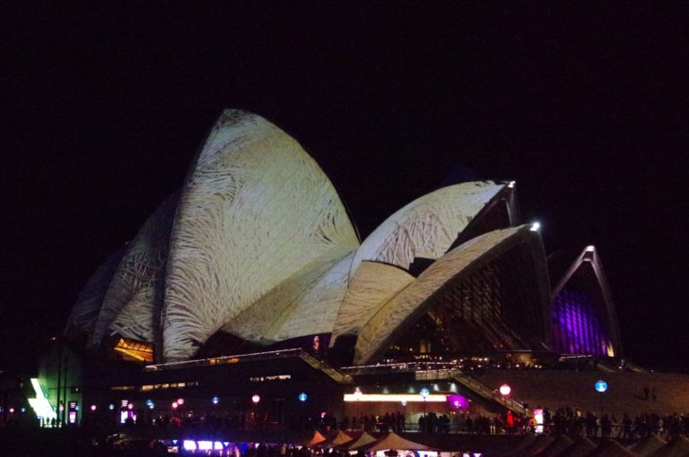 L'Opera House en lumières