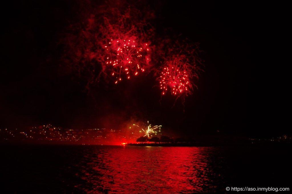 Feux d'Artifice à Nouméa le 01 janvier 2020