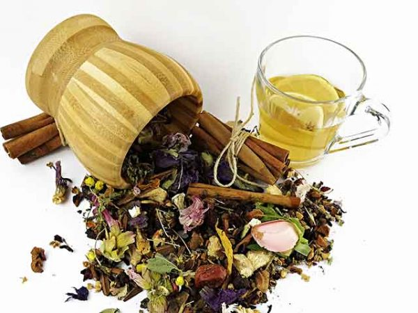 spices with tea
