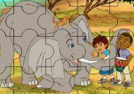 Puzzle de Diego y Dora en la selva