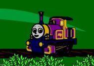 La locomotora Lady ayudando a Thomas