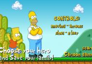 Bart y Homer en Mario World
