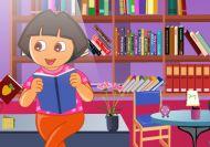 Dora recogiendo su estudio