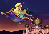 Juego de puzzle de Aladdin y Jasmine
