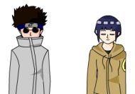 Vestir a Kiba, Shino e Hinata