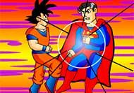 La gran lucha de Goku y Supermán