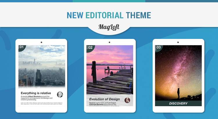 Responsive Parallax Theme for Digital Magazine Issues