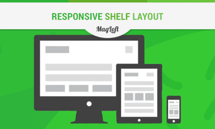 Responsive Magazine App Shelf