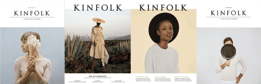 the best digital magazines: kinfolk