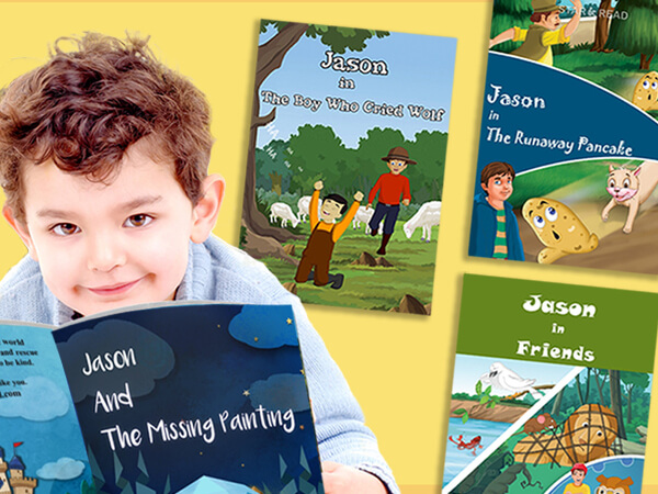 Books personalised with childs name
