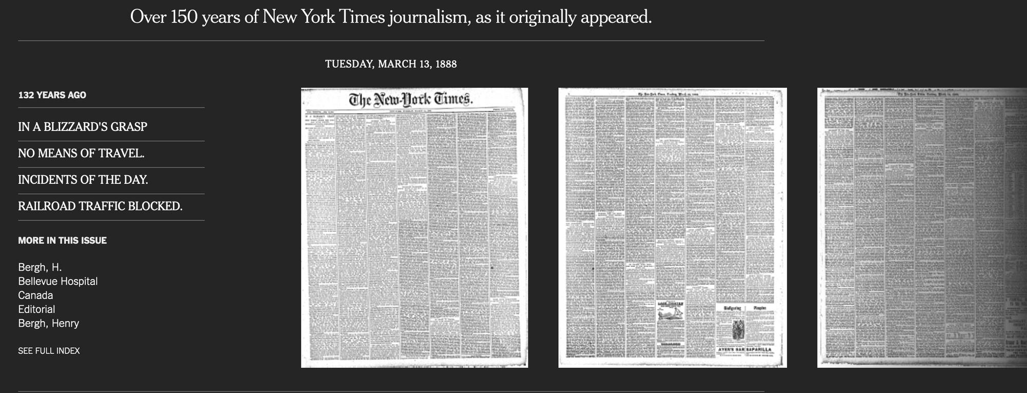 100년 전 NY Times 이젠 PDF로 본다