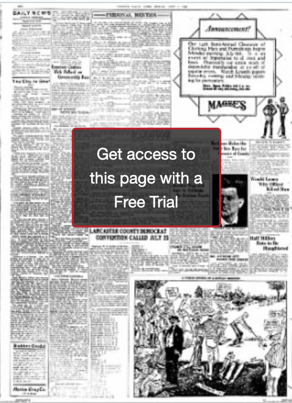 조지 피치의 The Reporter라는 기사가 실린 1914년 7월3일자 Lincoln NE Daily Star의 6면