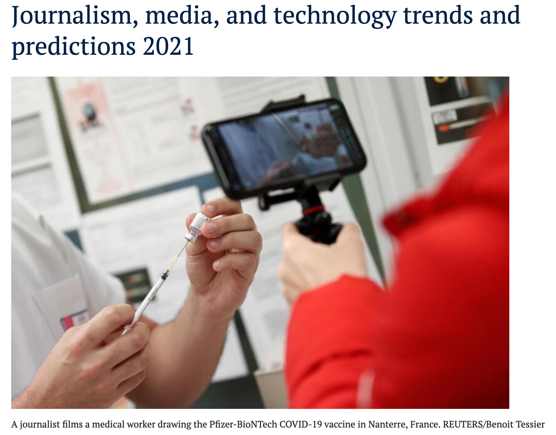 [번역] 2021년 저널리즘, 미디어, 그리고 테크놀로지 트렌드와 예측