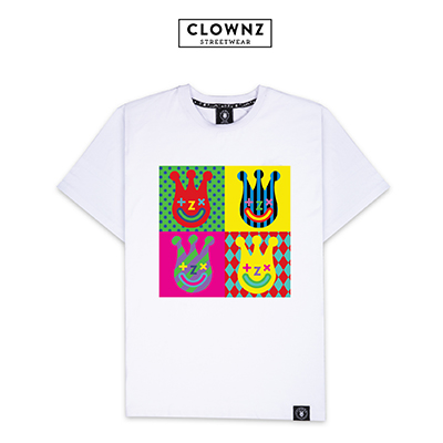 ClownZ 'Pop Art' T-Shirts - White
