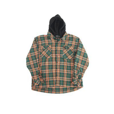 Hooded Shirt Green - Orange