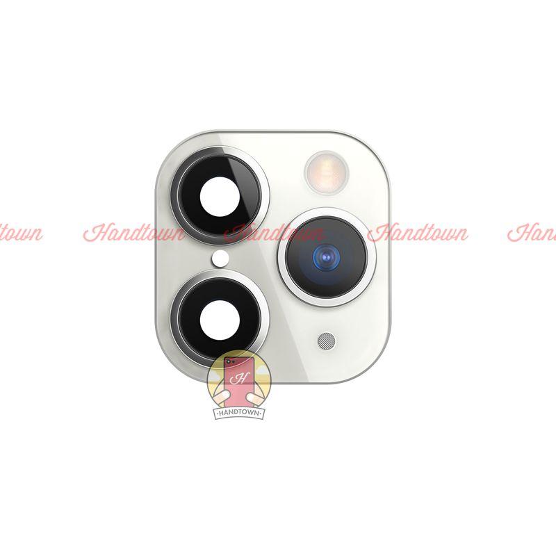 Khung Viền Camera Iphone X Xs Xs Max Giả Iphone 11 pro Màu Bạc có Viền Lồi thật 99%