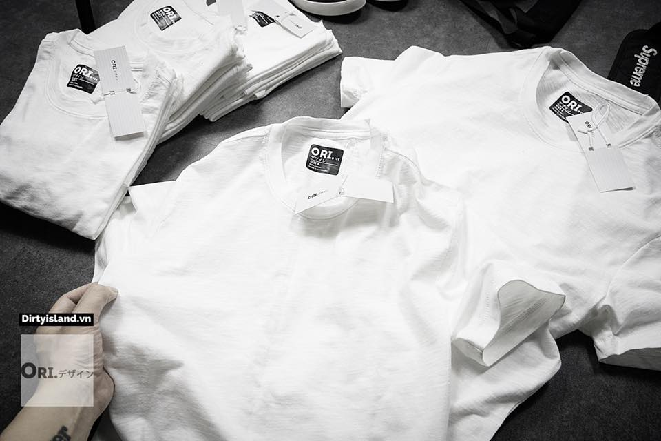 Áo phông trơn ORI 0304-Trắng