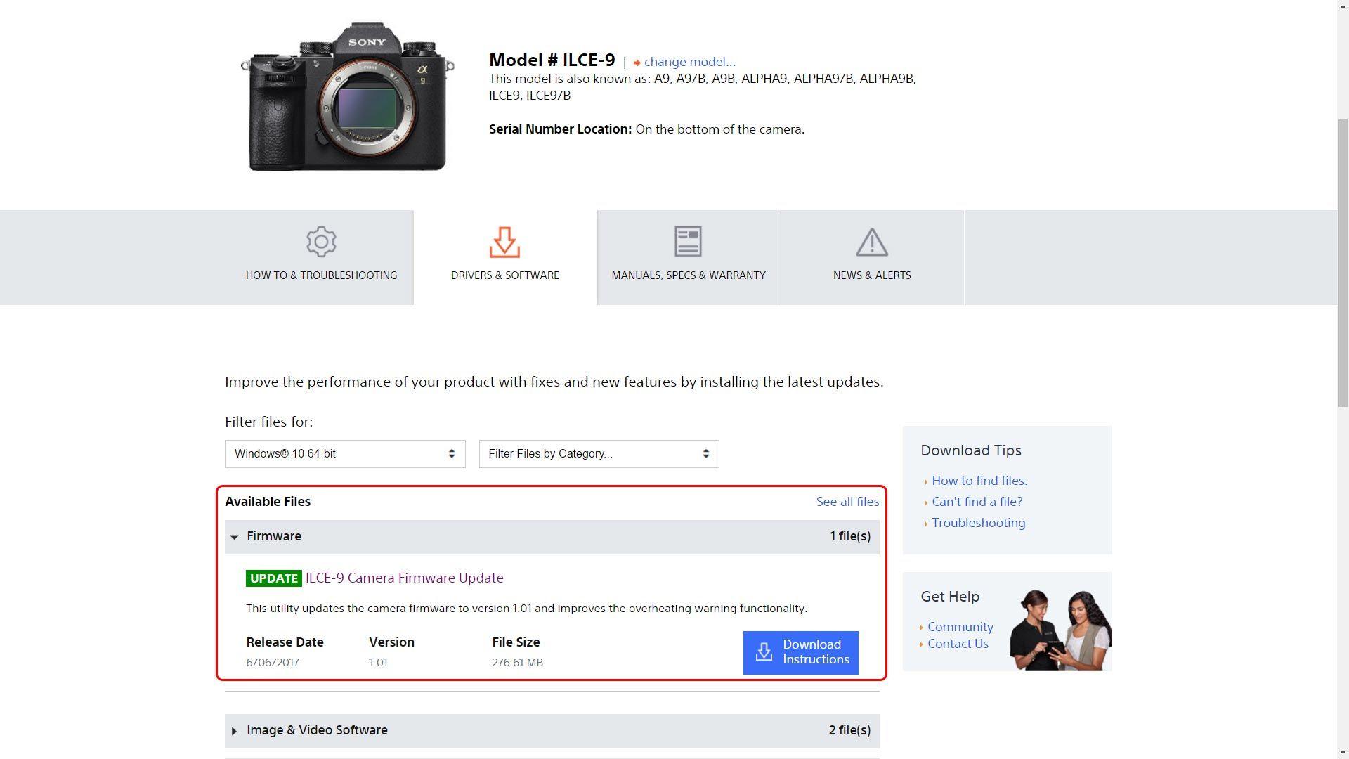 Hướng dẫn update firmware cho máy ảnh sony alpha