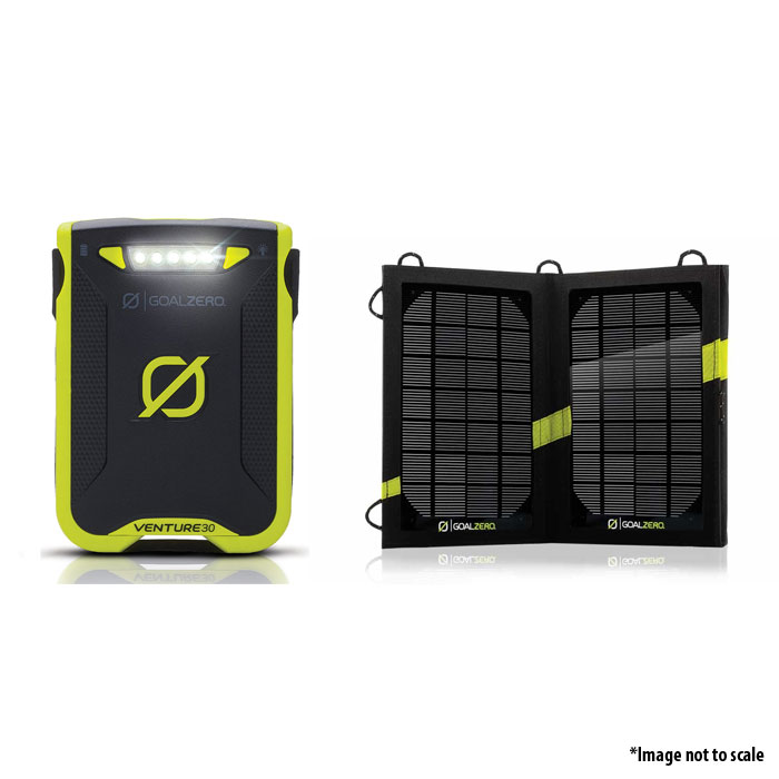Goal Zero Venture 30 Solar Recharging Kit With Nomad 7