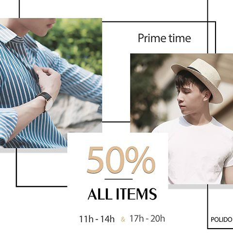 Sale off 50% all items