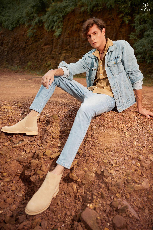 Dạo phố mùa Thu với quần denim nam, áo jeans light wash